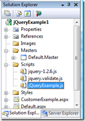 Starting with jQuery - Solution Explorer