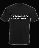 Szlengblog póló klasszik, fekete