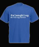 Szlengblog póló klasszik, kék