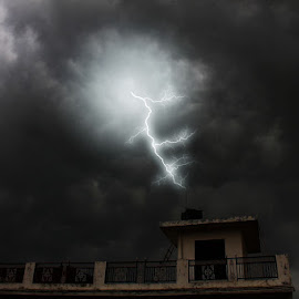 House... by Sameer Agnihotri - Buildings & Architecture Homes ( lightening, nature, house, landscape, whether )