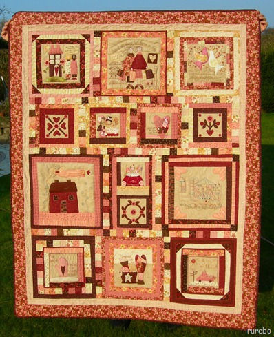 "fertiger Quilt ""Breast of friends"""