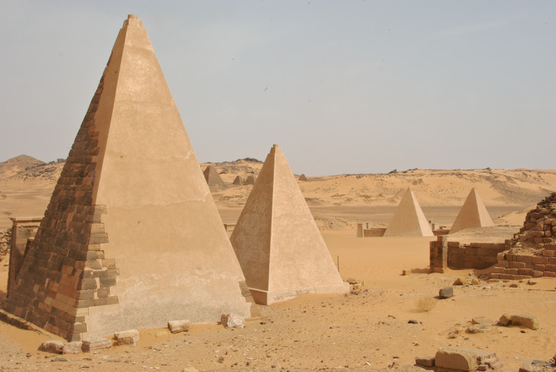 meroe pyramids in Sudan