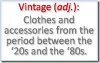 Vintage definition