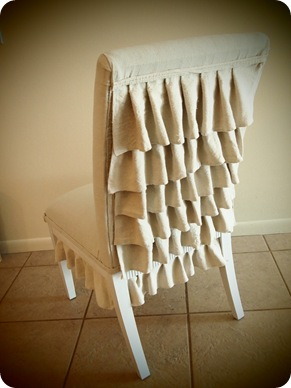 ruffle back chair