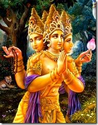 Lord Brahma praying