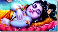 Lord Krishna sleeping