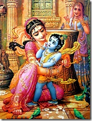 Mother Yashoda binding Krishna