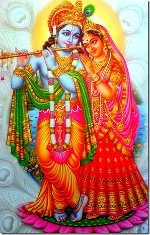 Radha Krishna - love in the spiritual world