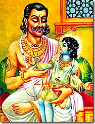 Dasharatha with his son Rama
