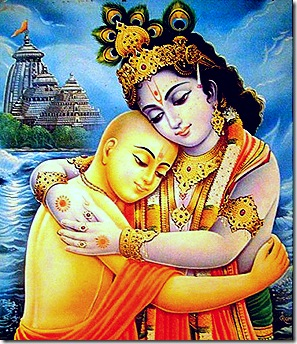 Lord Chaitanya and Lord Krishna