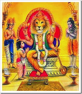 Narasimhadeva with devotees