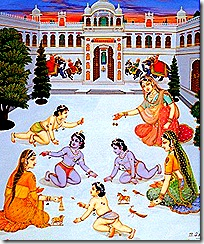 Dasharatha's wives with children