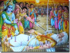 Arjuna bringing water for a dying Bhishma