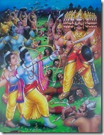 Rama's army fighting Ravana