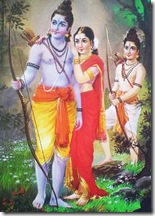 Sita Rama Lakshmana in forest