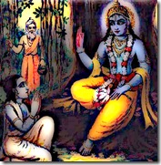 Krishna speaking to Uddhava