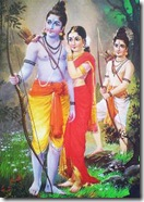 Sita Rama Lakshmana in the forest