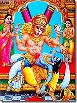 Narasimha Deva killing Hiranyakashipu