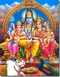 Shiva, Parvati and family