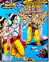 Rama and Lakshmana fighting Ravana