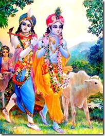 Krishna and Balarama in charge of the cows