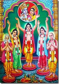 Pancha tattva chanting Hare Krishna