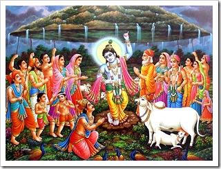 Lifting Govardhana Hill