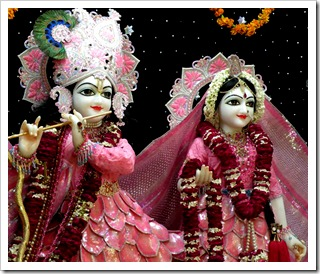 Radha and Krishna deities
