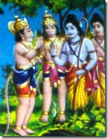 Hanuman with Rama