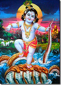 Krishna subduing the Kaliya serpent