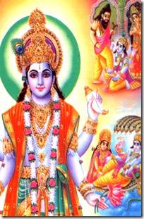 Bhrigu kicking Vishnu