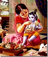 Mother Yashoda and Lord Krishna