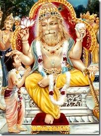 Prahlada Maharaja with Narasimhadeva