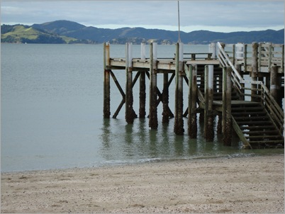 The wharf at Maraetai