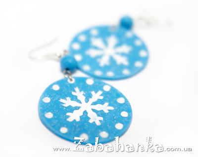 Сережки - Сніжинки