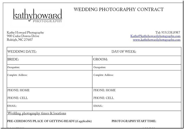 wedding contract snippit