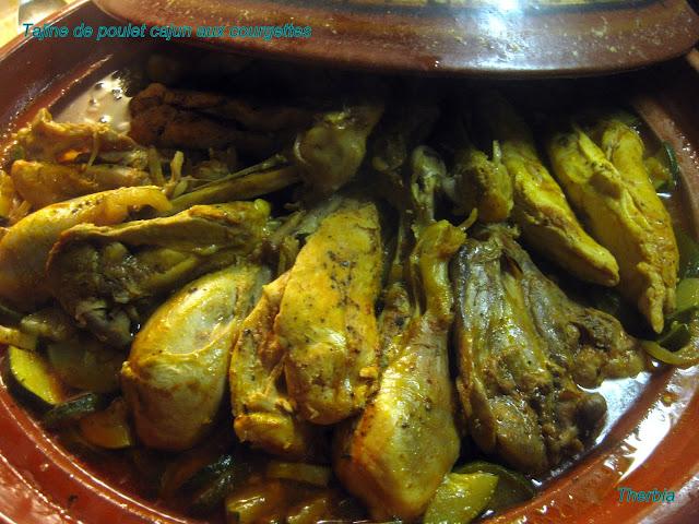Tajine de poulet cajun aux courgettes et l gumes gourmands for 1895 cajun cuisine menu