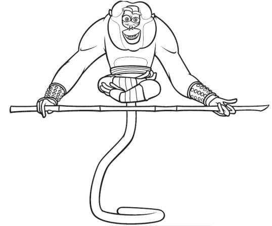 Dibujos de kung fu panda para colorear - Singe a dessiner ...