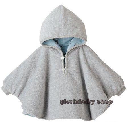 Reversible Baby Boy Girl Poncho Coat Warm Soft AGE1 3