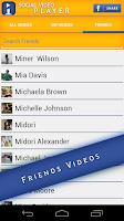 Screenshot of Social Video Player