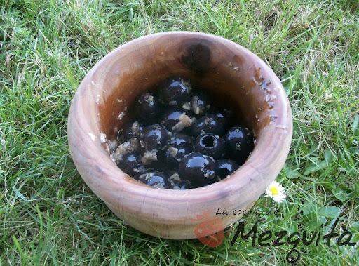 Aliño para aceitunas negras