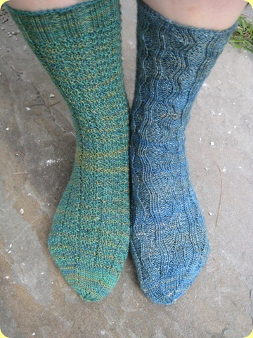 half and half socks