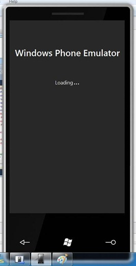 Windows Phone Emulator Loading