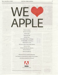 Adobe We love Apple