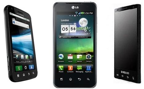 Motorola Atrix LG Optimus 2x Samsung Galaxy S2
