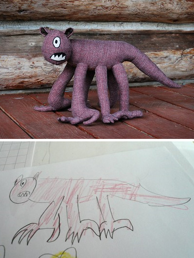 Lizette Greco: Stuffed Dolls based on Kid Drawings