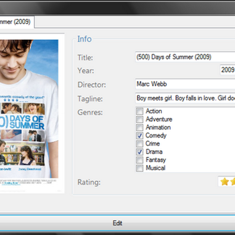 Double Feature – Simple open source movie organizer