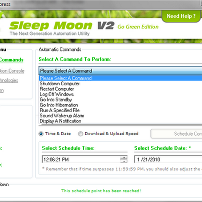 Sleep Moon Xpress: Remote control your computer via Bluetooth, Sound and Mobile