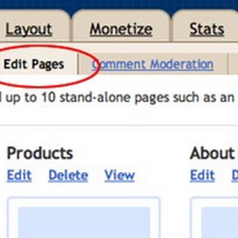Blogger in Draft introduces Pages