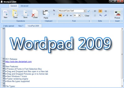 wordpad2009
